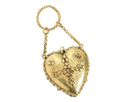 Georgian Acrostic REGARD Heart Pendant Locket