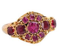 Victorian Ruby Garnet Ring of 1866