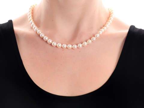 Mikimoto Lustrous Vintage Cultured Pearl Necklace