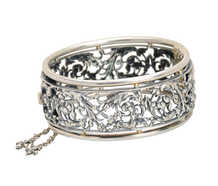 Antique French Silver Bangle Bracelet