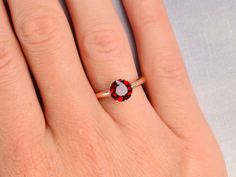 Antique Garnet Ring Dated 1900