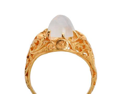 Moon Dreams - Moonstone Antique Ring