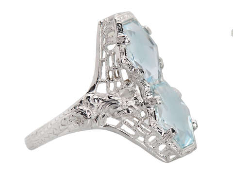Mythologically Inspired Aquamarine Vintage Ring