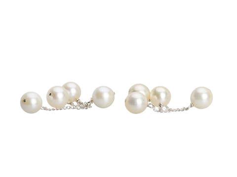 Vintage Kinetic Cultured Pearl Earrings