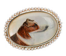 Forever Companion - Essex Crystal Collie Dog Brooch