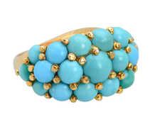 Pavé Princess - Turquoise Gold Ring