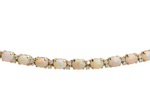 Australian Opal Diamond Link Bracelet