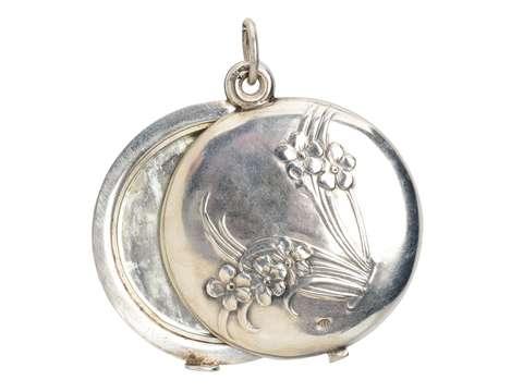Forget Me Not Art Nouveau Silver Locket