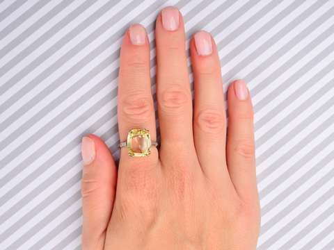 Natural No Heat Yellow Sapphire Ring