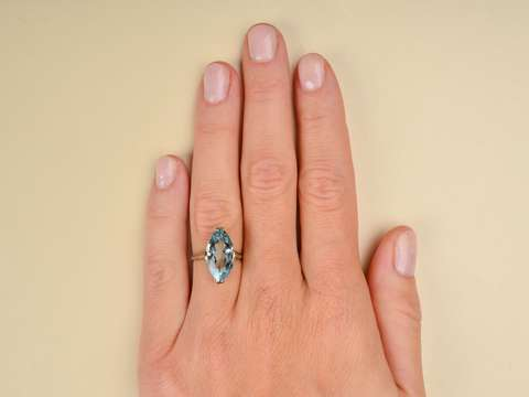 From One to Another -  Aquamarine Ring Dated 1928