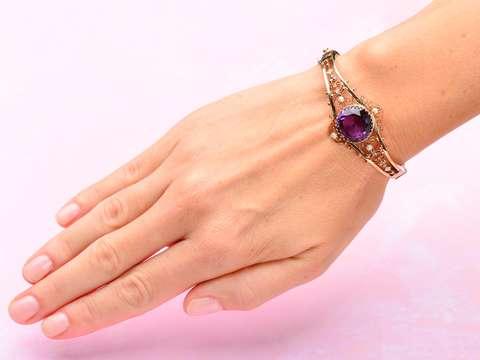 Amethyst Pearl Bracelet - Original Box!