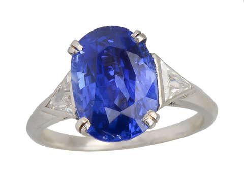 Sapphire Saavy - Diamond Trilliant Ring