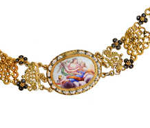17th Century Enamel & Gold Necklace