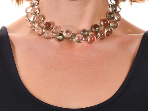 Pools of Light Floral Necklace