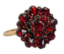Bohemian Garnet Circular Ring