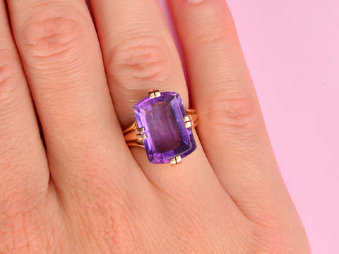 From Father with Love - Vintage Amethyst Gold Ring