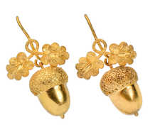 Antique Gold Acorn & Oak Leaf Earrings