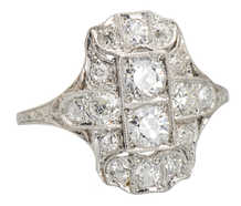Downton Elegance - Edwardian Diamond Platinum Ring