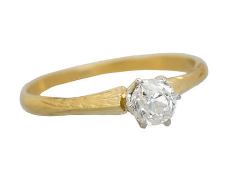 Simply Yes - Solitaire White Yellow Gold Solitaire Ring