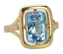 One of a Kind Aquamarine Ring