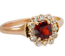 Victorian Garnet Diamond Ring