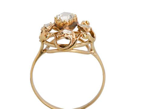 Georgian Antique Rose Cut Diamond Ring