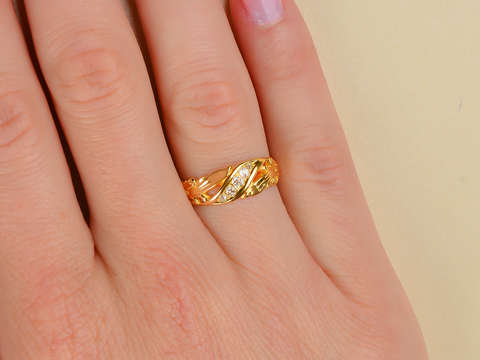Edwardian Antique 18k Gold Diamond Ring