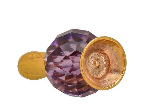 Vintage Amethyst Gold Pendant Charm