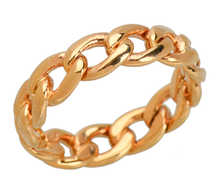 Unisex Vintage Curb Link Chain Wedding Band