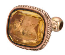 Loyalty - Citrine Rose Gold Dog Fob Seal