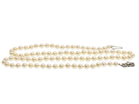"""Vintage Mikimoto 25"""" Long Cultured Pearls"""