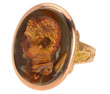 Georgian Hardstone Alexander the Great Cameo Ring