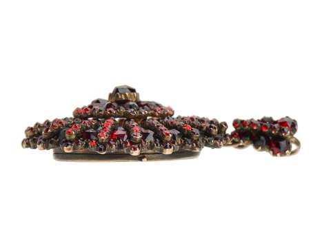 Victorian Bohemian Garnet Locket Pendant