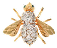 MCM Emerald Eyed Diamond Bee Brooch