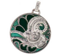 Art Nouveau Aries the Ram Zodiac Pendant