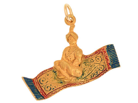 Sloan & Co. Aladdin on a Magic Carpet Charm