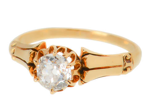 Victorian Antique Solitaire Engagement Ring