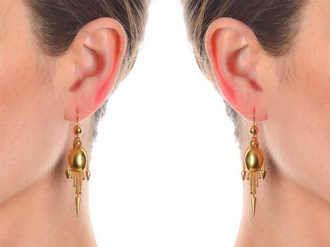 Victorian Gold Fringe Earrings in 15k
