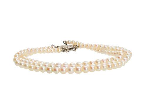 Three Strand Vintage Cultured Pearl Bracelet
