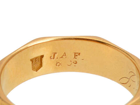Victorian Eight Sided 18k Band of 1871