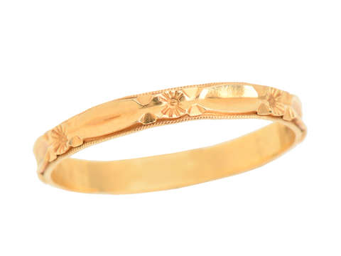 Vintage Gold Wedding Band for Man or Woman