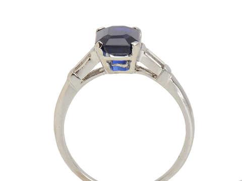 No Heat Sapphire Diamond Ring