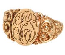 Antique Art Nouveau Signet Ring