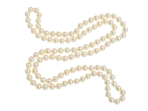 """Vintage Continuous Strand of 30"""" Akoya Pearls"""