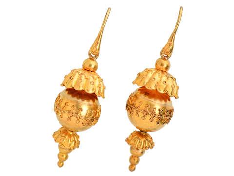 Snake Motif Archeological Revival Earrings