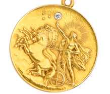 Helios Bringing in the Dawn Antique Locket