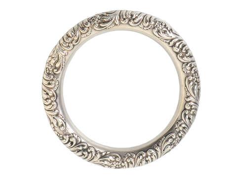 Dynamism - Art Nouveau Silver Bangle Bracelet