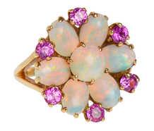 Pinwheel - Opal Pink Sapphire Ring
