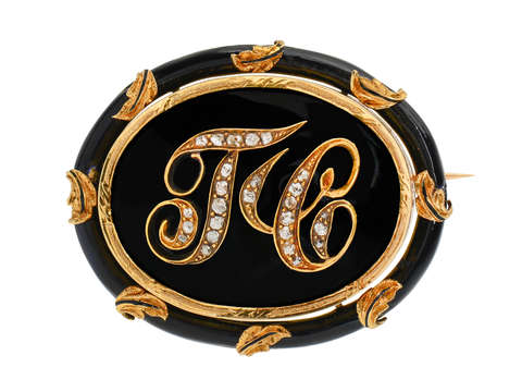 1859 Antique Memorial Brooch of Theodore Chase