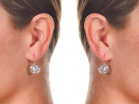Antique Victorian Paste Solitaire Earrings